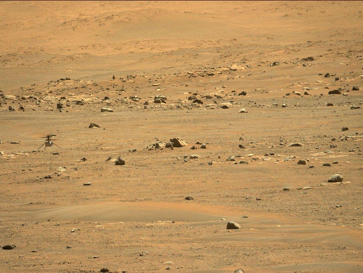 بالگرد نبوغ پس از پرواز پنجم در مریخ