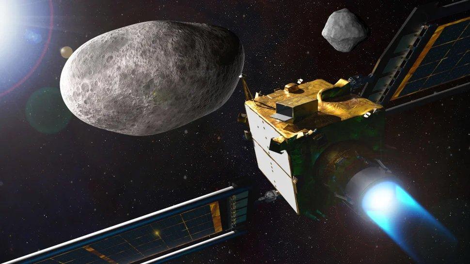 طرحی گرافیکی از مأموریت دارت ناسا