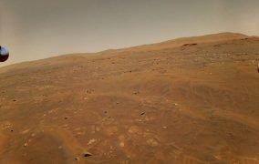 عکس مریخ در ششمین پرواز بالگرد نبوغ