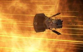 طرحی گرافیکی از کاوشگر خورشیدی پارکر ناسا