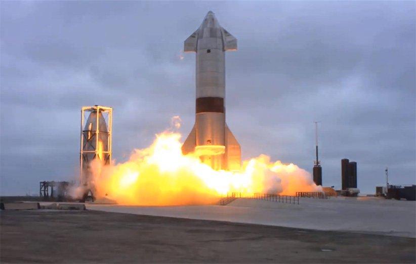 پرتاب نمونهی آزمایشی SN15 فضاپیمای استارشیپ