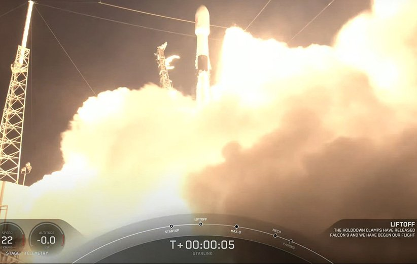 پرتاب موشک فالکون 9 اسپیسایکس در مأموریت «استارلینک 27»