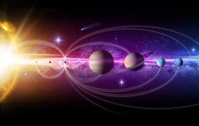 طرحی گرافیکی از منظومهی شمسی زیبا