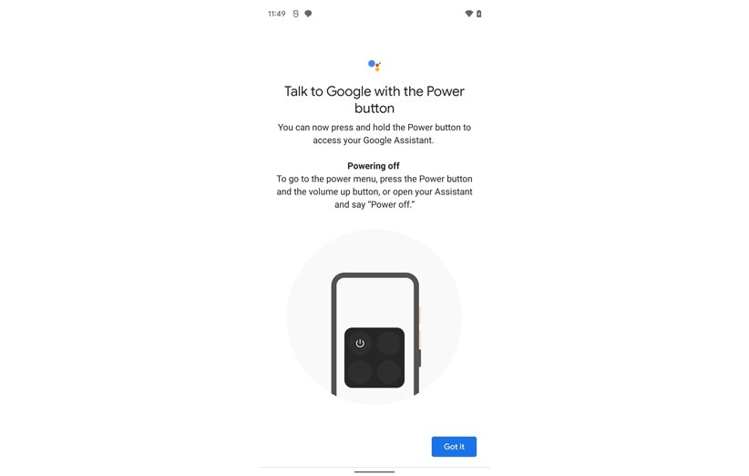 گوگل اسیستنت خاموش کردن گوشی