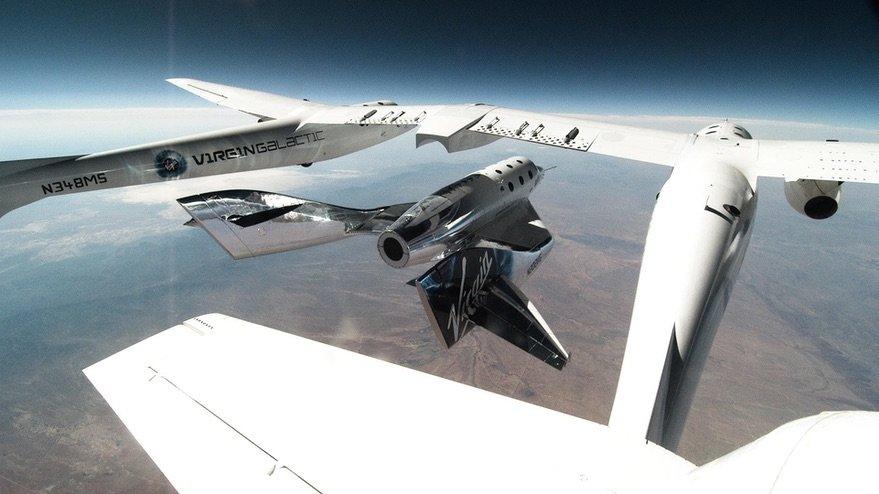 آزمایش جدا شدن فضاپیمای اسپیسشیپ دو از هواپیما در سال 2020