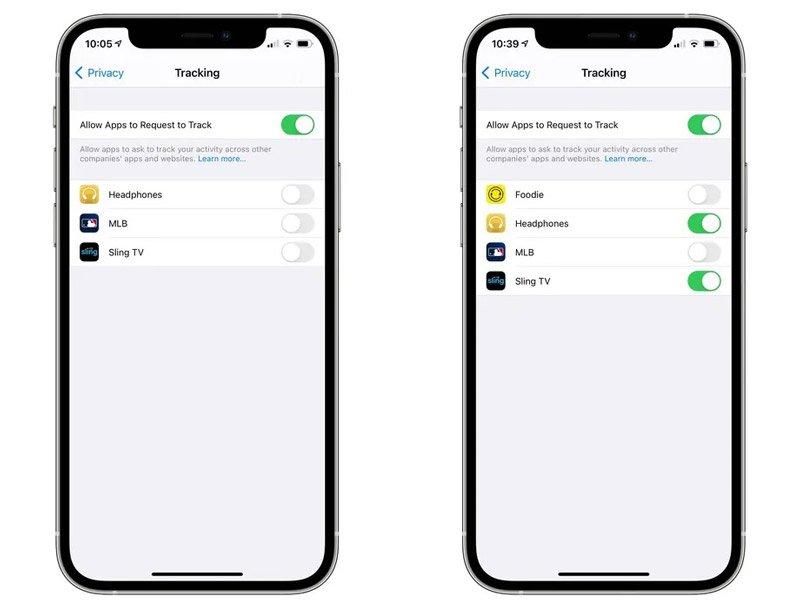 تنظیمات حریم خصوصی در iOS 14.5