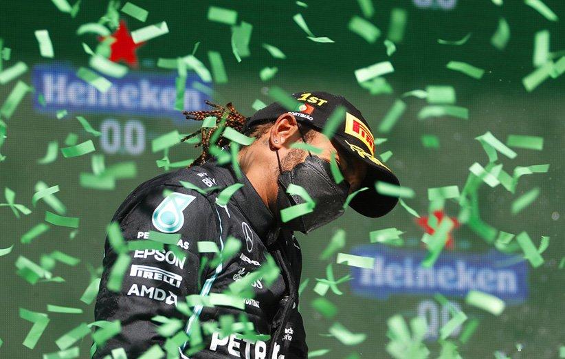 لوئیس همیلتون پیروز مسابقهی جایزه بزرگ پرتغال در فصل 2021 رقابتهای فرمول یک