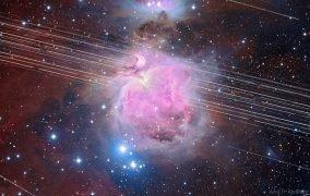 گذر ماهوارههای استارلینک از مقابل سحابی جبار