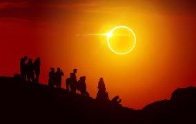 تصویری پردازش شده از رصد خورشیدگرفتگی حلقوی