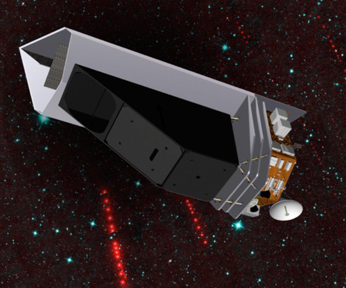 طرحی گرافیکی از تلسکوپ فضایی نقشهبردار نئو