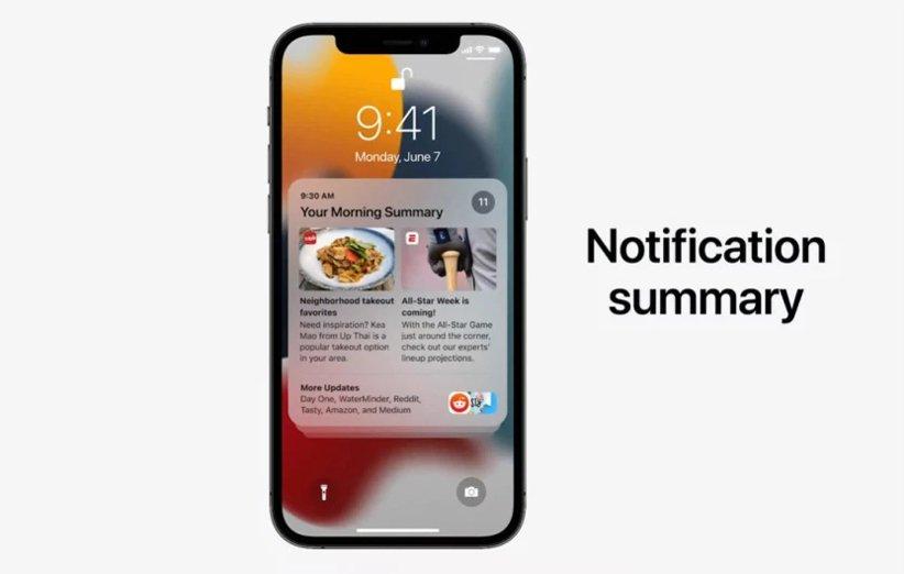 اعلانات در iOS 15 اپل