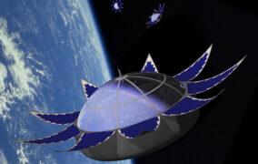 طرحی گرافیکی از کپسول ماه عسل فضایی