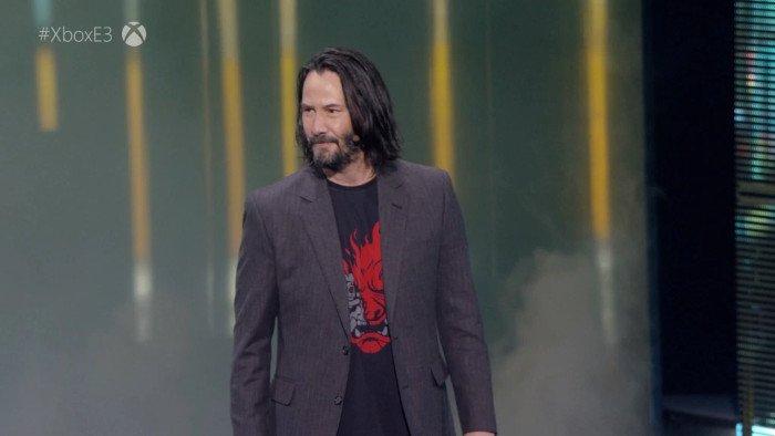 کیانو ریوز در نمایش Cyberpunk 2077