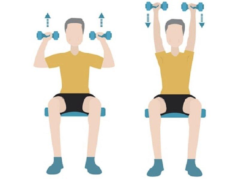 «سرشانه پرس دمبل نشسته» (Seated Shoulder Press)