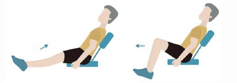 «بالا آوردن زانو تا سینه نشسته» (Seated Knee-to-Chest)