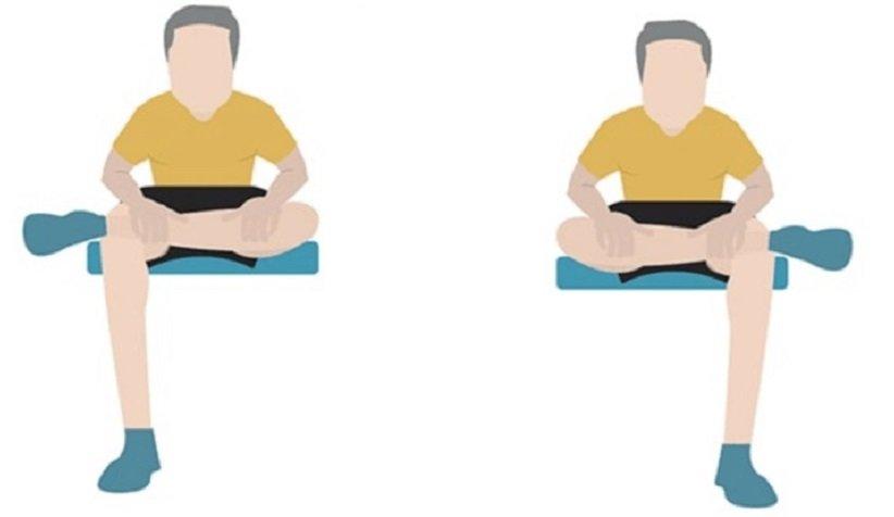 «کشش باسن نشسته» (Seated Hip Stretch)