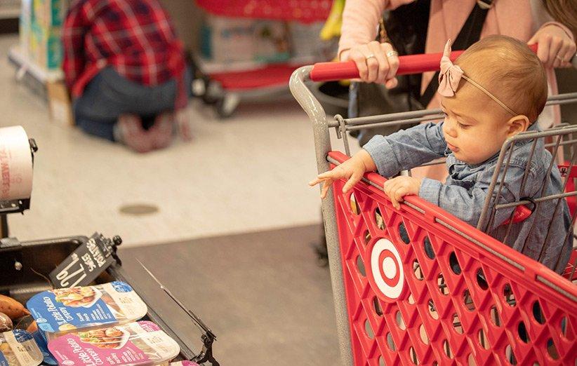 خرید از فروشگاه مواد غذایی با کودکان