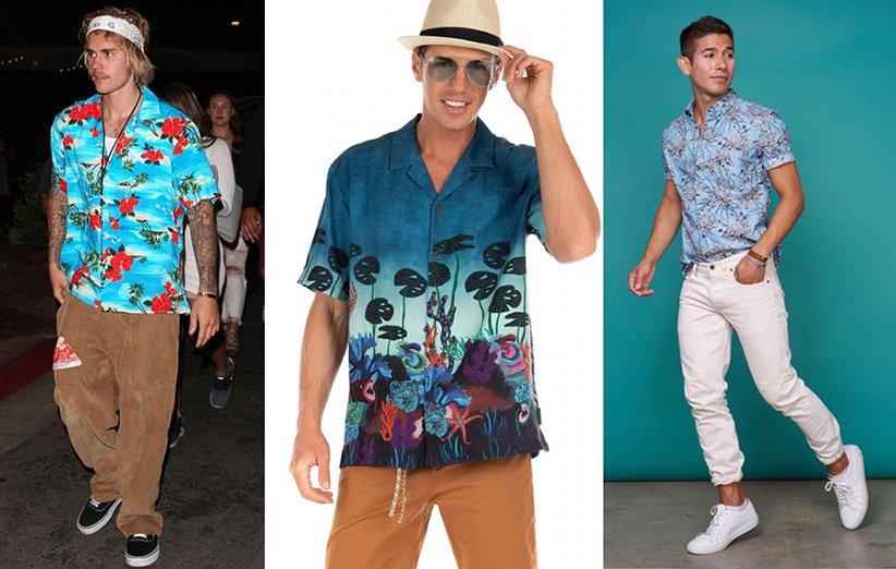 پیراهن هاوایی و شلوار کتان