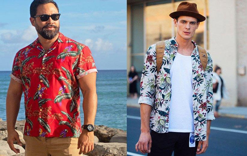 استایل با پیراهن هاوایی
