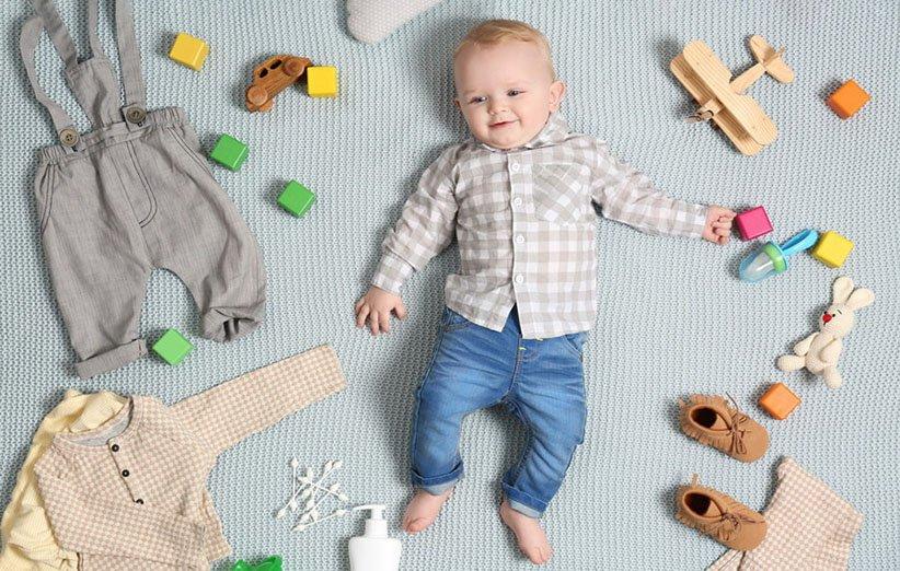 انواع سایز لباس نوزاد