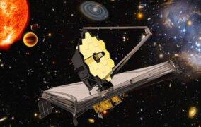 طرحی گرافیکی از تلسکوپ فضایی جیمز وب و مأموریتهای آن