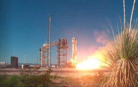 پرتاب فضاپیمای باری نیو شپرد بلو اوریجین حامل آزمایشهای ناسا