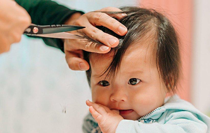 کوتاهی موی نوزاد