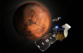 طرحی گرافیکی از مأموریت ماهوارههای کوچک اسکپید