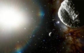 طرحی گرافیکی از سیارک PH27 2021 به عنوان سریعترین سیارک شناخته شده تا کنون