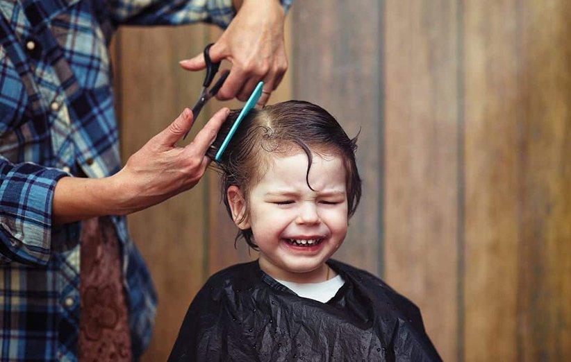 کوتاهی موی کودک