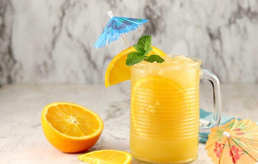 نوشیدنی با پرتقال و زردچوبه