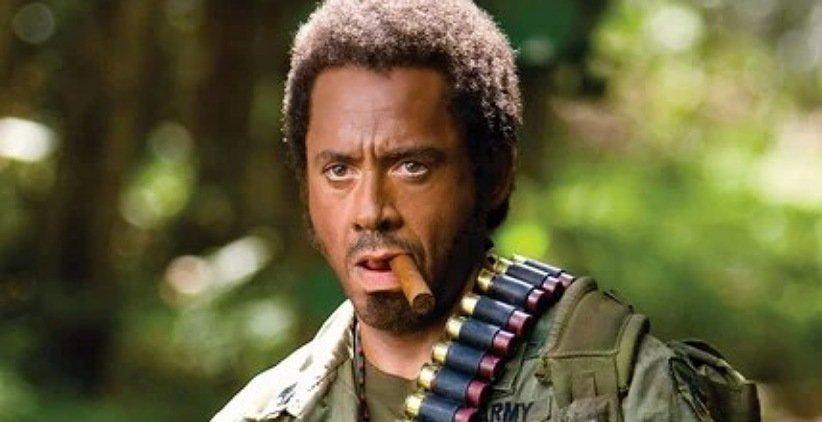 رابرت داونی جونیور در فیلم تندر استوایی