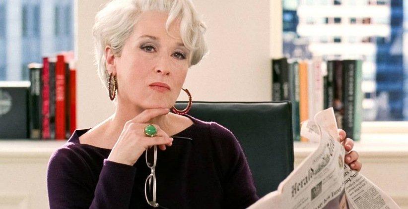 مریل استریپ در فیلم شیطان پرادا میپوشد