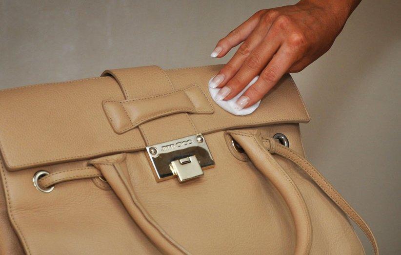 تمیز کردن کیف چرمی