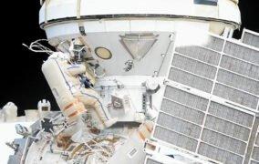 راهپیمایی فضایی کیهاننوردان روس برای تجهیز ماژول آزمایشگاهی جدید نائوکا