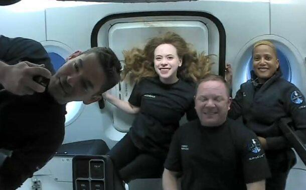 تصاویر درون کپسول تابآوری در مأموریت اینسپیریشن 4