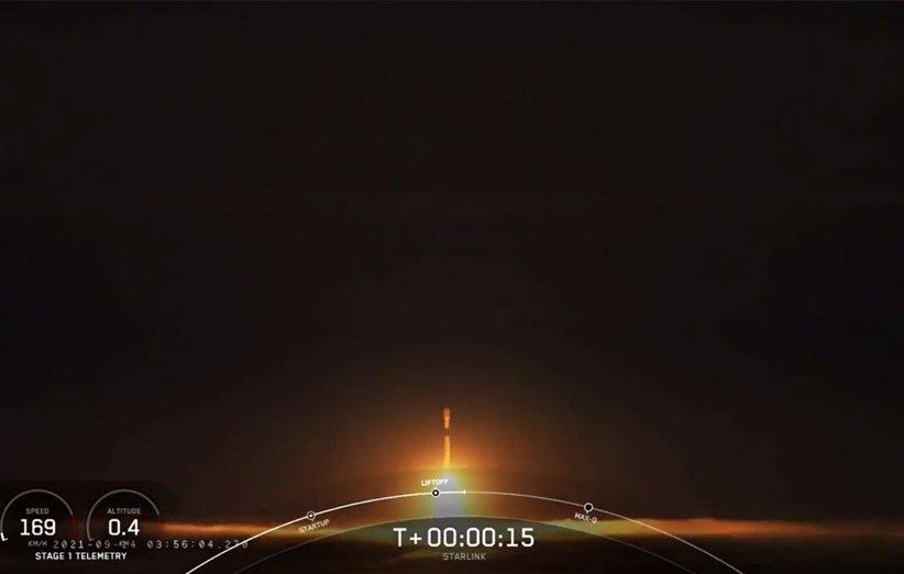 پرتاب موشک فالکون 9 اسپیسایکس برای نخستین پرتاب عملیاتی استارلینک به مدار قطبی