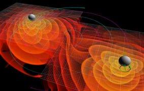 ادغام دو سیاهچاله و ایجاد امواج گرانشی
