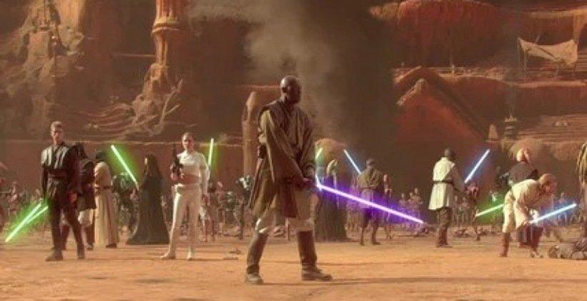 نمایی از فیلم جنگ ستارگان حملهی کلونها
