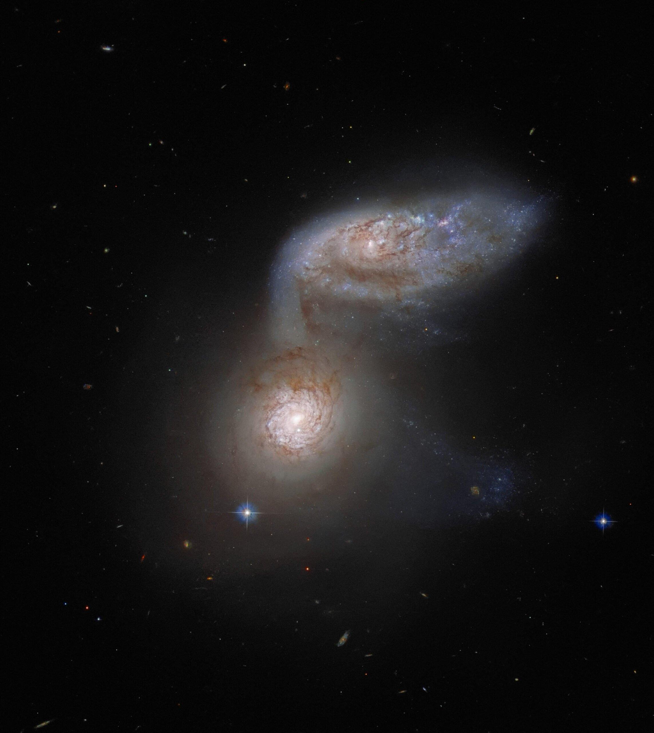 برخورد کهکشانی Arp 91