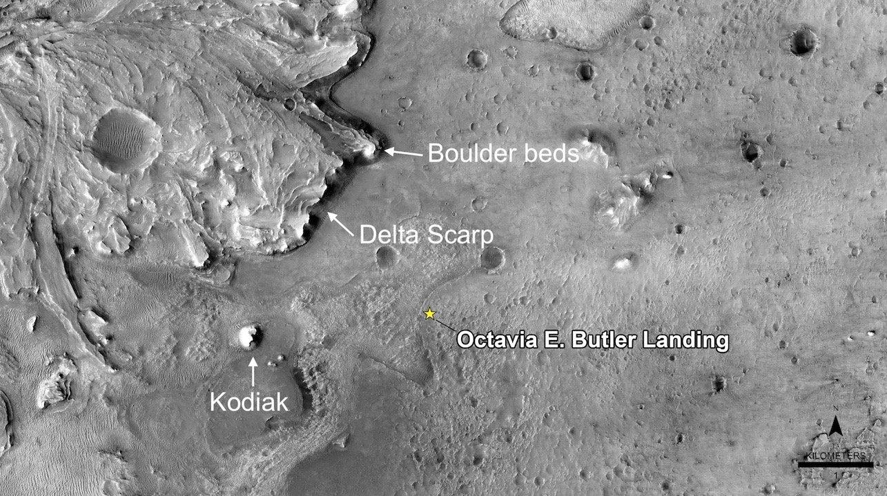 تصویر مدارگرد شناسایی مریخ از دلتا در دهانهی جزرو