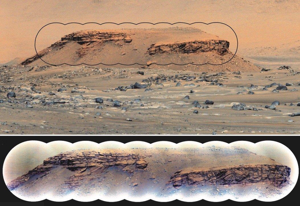 سنگهای رسوبی در تپهی کودیاک مریخ